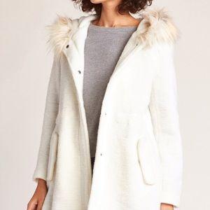 Soft white winter coat